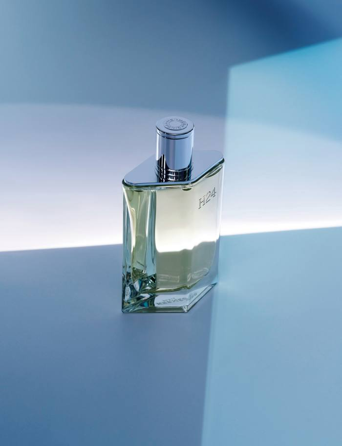 Hermès's new scent, H24 – perfumer Christine Nagel worked on it with the house's menswear creative director Véronique Nichanian, inspired by the tactility of her ready-to-wear collections