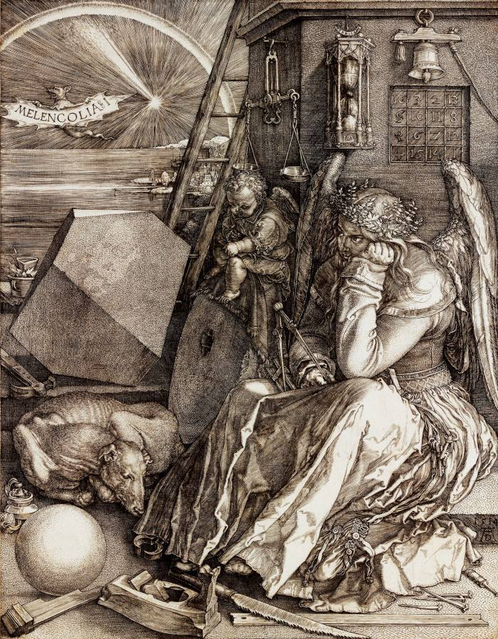 Melencolia I by Albrecht Dürer –Grabowski-Mitsotakisfound an early 1800s reproduction of the 16th-century original in Boston