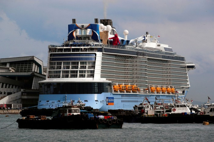 Royal Caribbean's Quantum of the Seas is berthed in Singapore after a passenger tested positive for Covid-19 during a cruise to nowhere in December 2020.