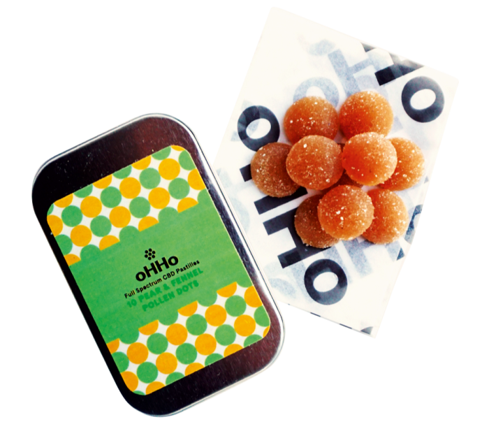 oHHo Pear & Fennel cannabis-infused pollendots, $45