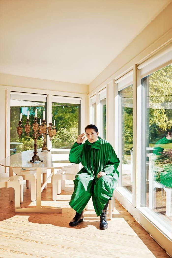 Abramović at home in upstate New York