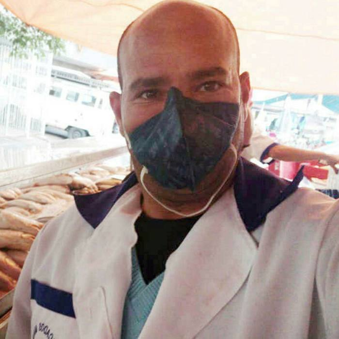 Fishmonger Alex Maia has had a surge in orders during the virus outbreak