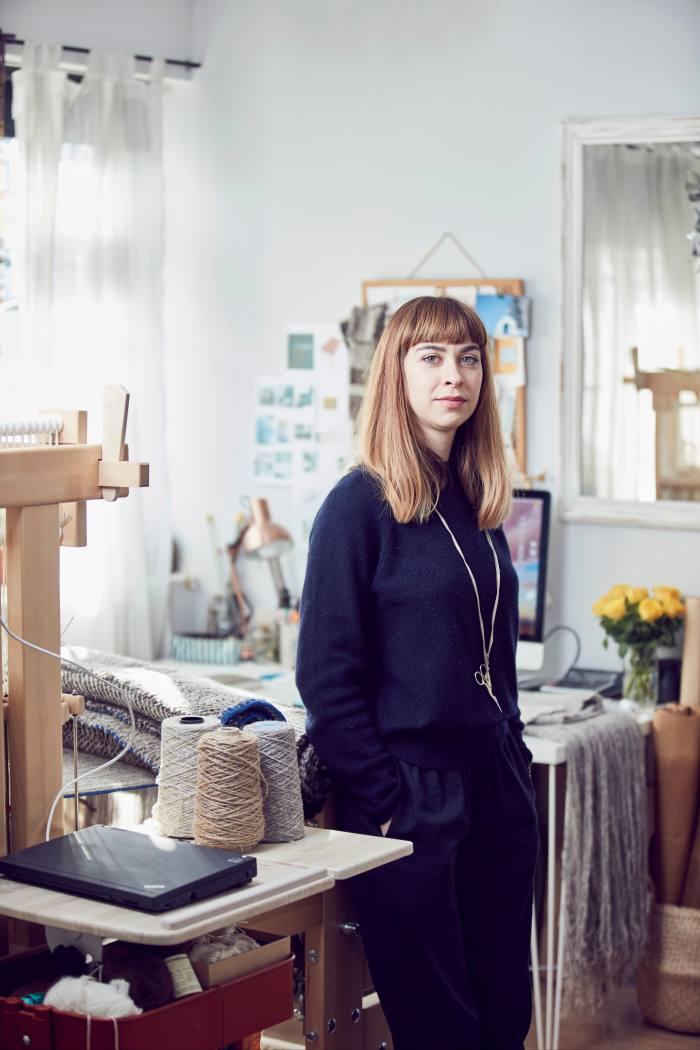 Weaver/textile designer Maria Sigma