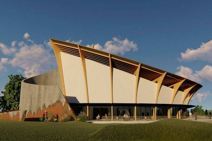 An artistic interpretation of the Museo de Arte Contemporáneo Atchugarry