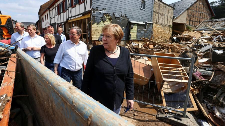 German floods increase pressure for a break with the Merkel era