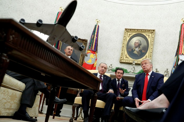 Trump meets with Turkey's President Tayyip Erdogan in the Oval Office of the White House last year