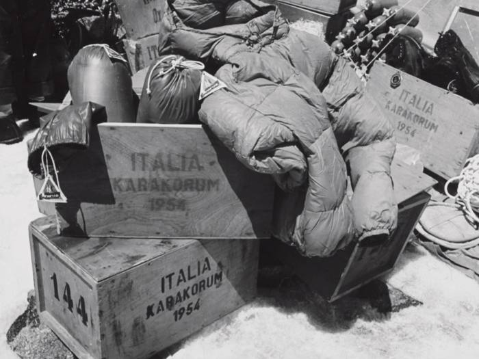 Moncler jackets were used on the Italian expedition to K2 in 1954