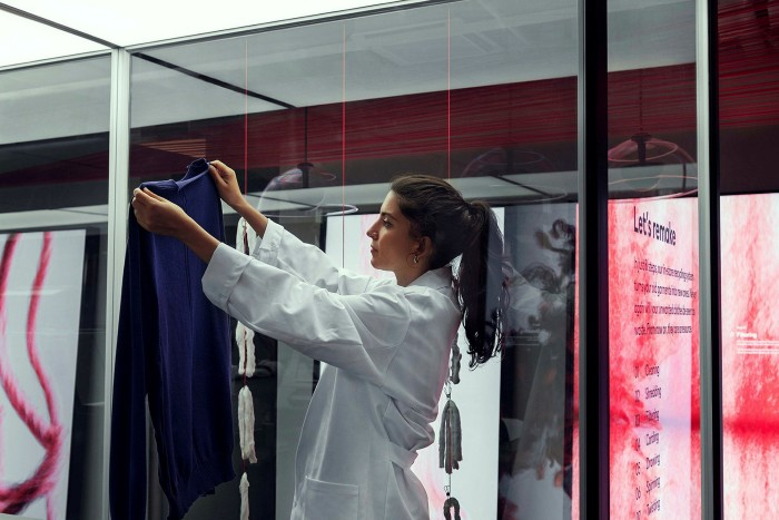 H&M has introduced an in-store recycling machine that shreds garments into fibres that are then spun and knitted into new fashion items