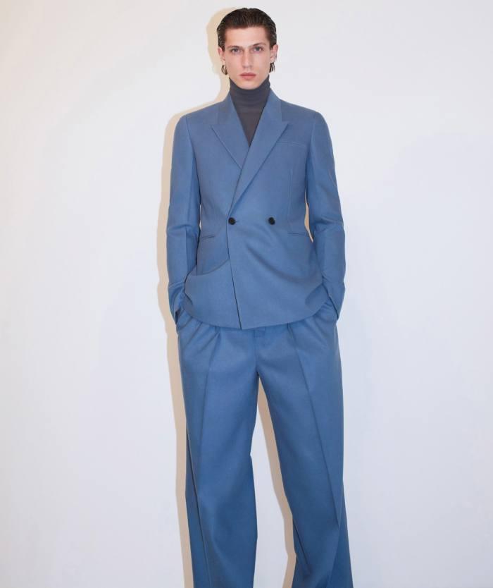 Bottega Veneta jacket, £2,205, sweater, £650, and trousers, £1,140