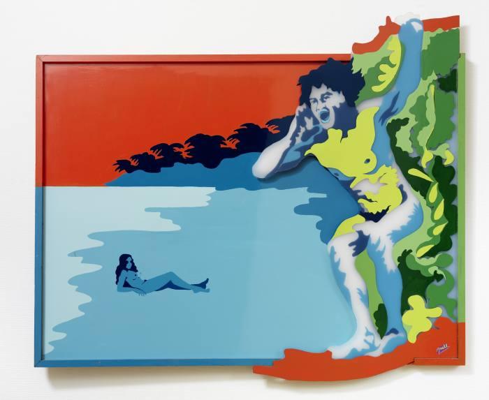 Axell's L'Appel (1972) – enamel on Plexiglas and Formica