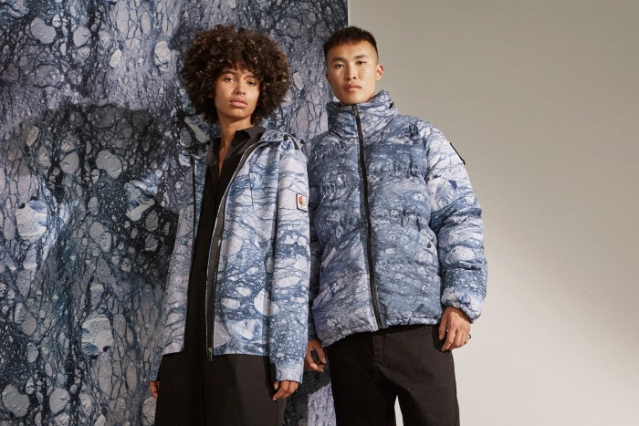 Raeburn's Glacier anorak and puffer are made from 100 per cent certified recycled polyester