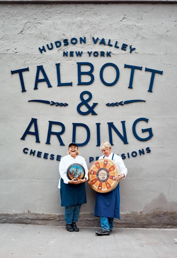Mona Talbott (left) and Kate Arding outside Talbott & Arding cheesemongers