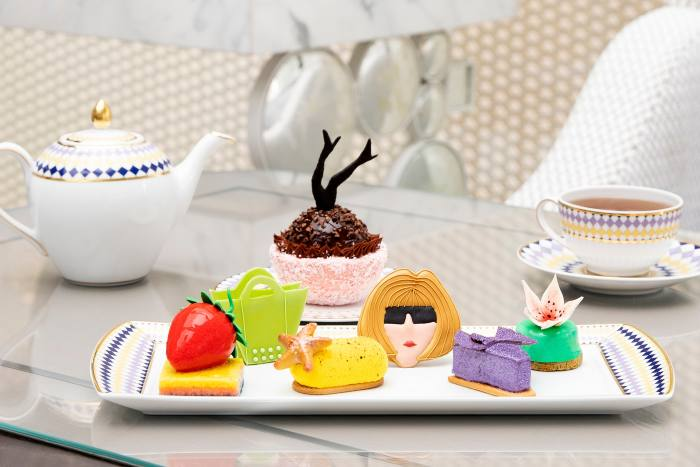 """""""Couture cakes"""" by executive pastry chef Mourad Khiat at Prêt-à-Portea at The Berkeley"""