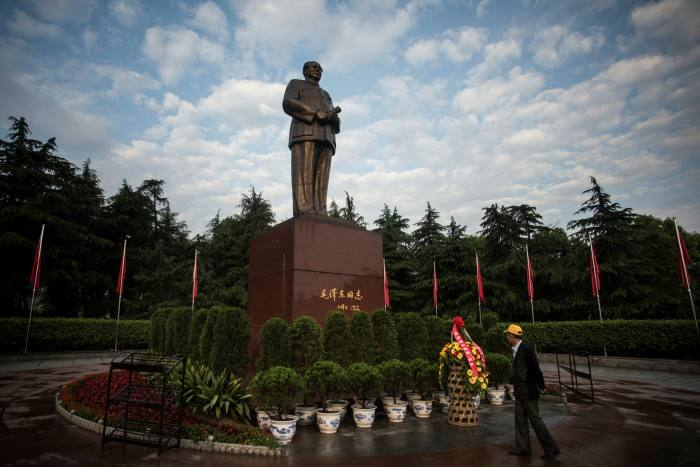 A statue of Mao Zedong in his home county of Shaoshan