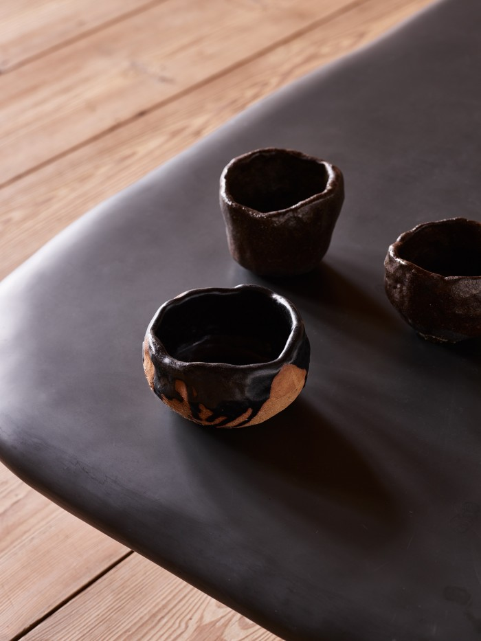 Ceramics handmade by Vervoordt for a client in Tokyo