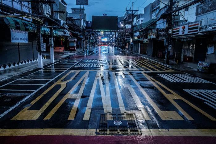 A deserted Bangla Road in Patong, Phuket