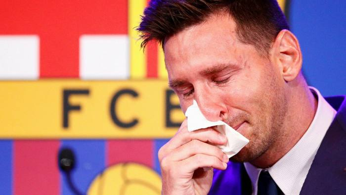 Tearful Lionel Messi bids farewell to Barcelona   Financial Times