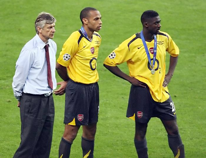 Losing the Champions League final against Barcelona, May 2006. Wenger has never been able to watch the game again. 'With 13 minutes to go, we were on top of it . . . ' he says