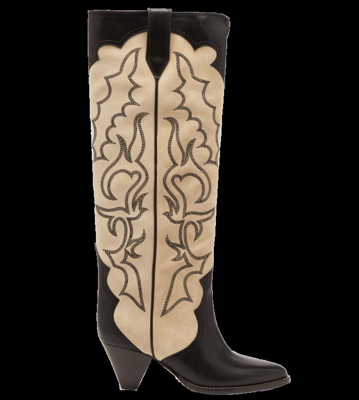 Isabel Marant embroidered leather Liela cowboy boots, £1,020, matchesfashion.com