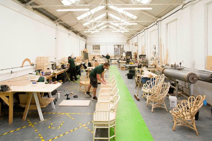 Soane's rattan workshop in Leicester