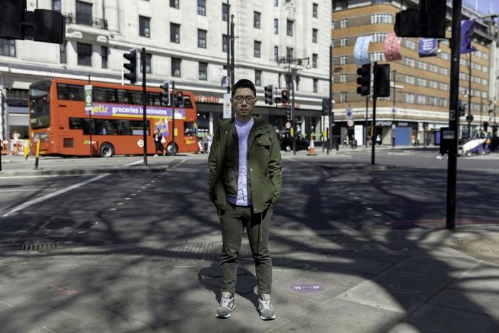 Nathan Law, a Hong Kong pro-democracy activist, in London