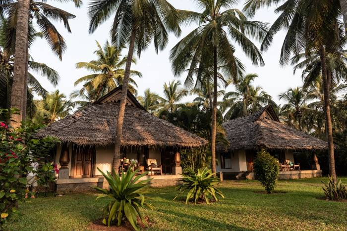 Seaview Cottage sits among 12 oceanfront acres at Neeleshwar Hermitage