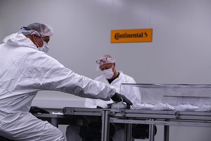 Companies such as German tyremaker Continental also manufactured medical equipment during the pandemic