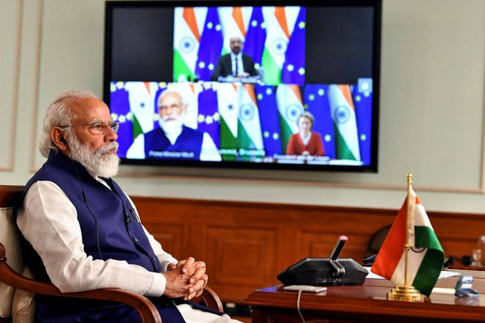 In a televised address India's prime minister Narendra Modi told the nation: 'we cannot allow our lives to be confined only around corona'