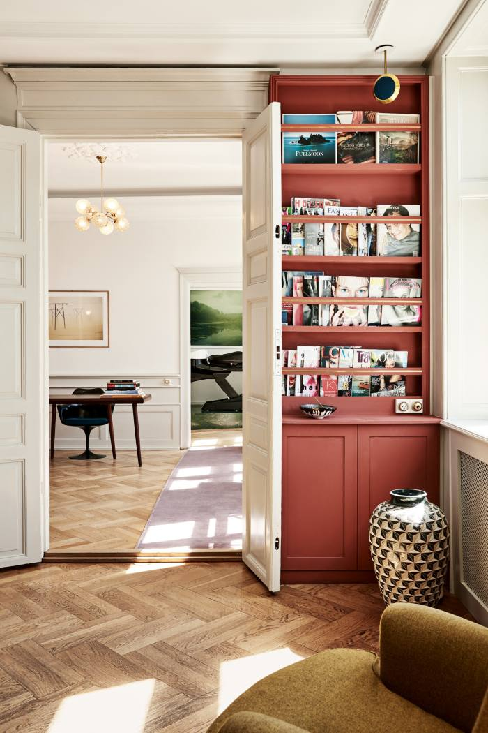 The hairstylist keeps more than 500 books in his salon