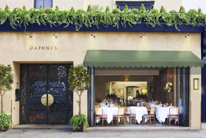 Daphne's Mediterranean-inspired terrace opens on 17 May