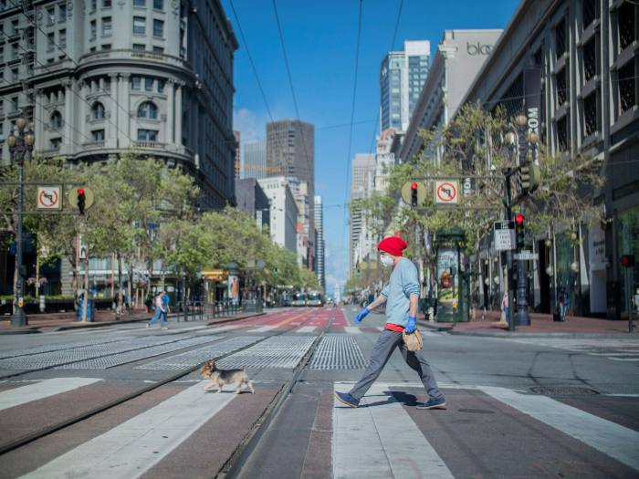 Market Street, in downtown San Francisco, a major artery of the city