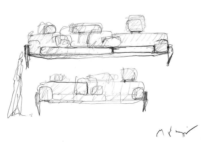 De Lucchi's sketches for Float