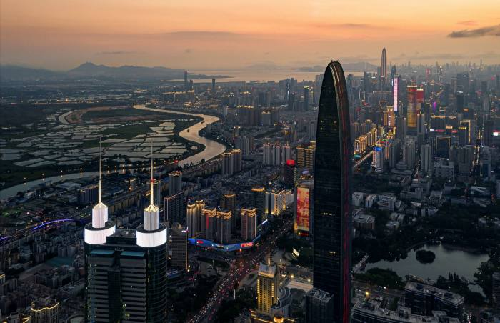 The mainland Chinese city of Shenzhen, home of groups such as Huawei, Tencent and DJI, attracts aspiring entrepreneurs from all over the country