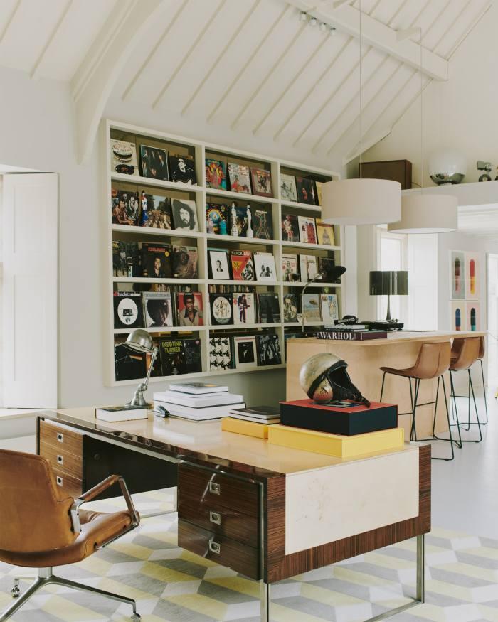 A 1950s President desk by De Coene Frèresfor Knoll in Berryman's library