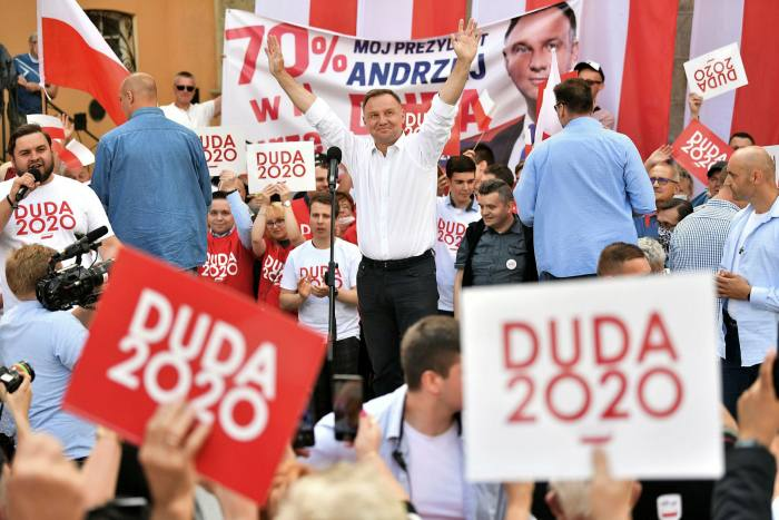President Andrzej Duda enjoys strong support among socially conservative voters in the countryside and small towns