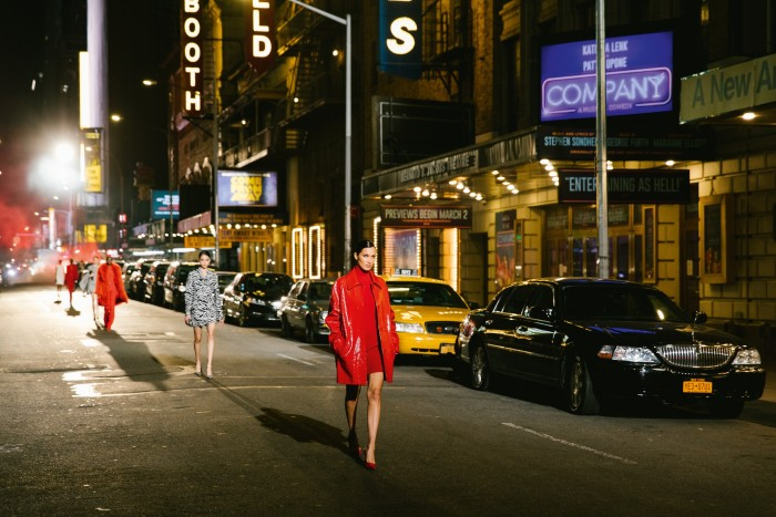 New York's West 45th Street became acatwalk for the night