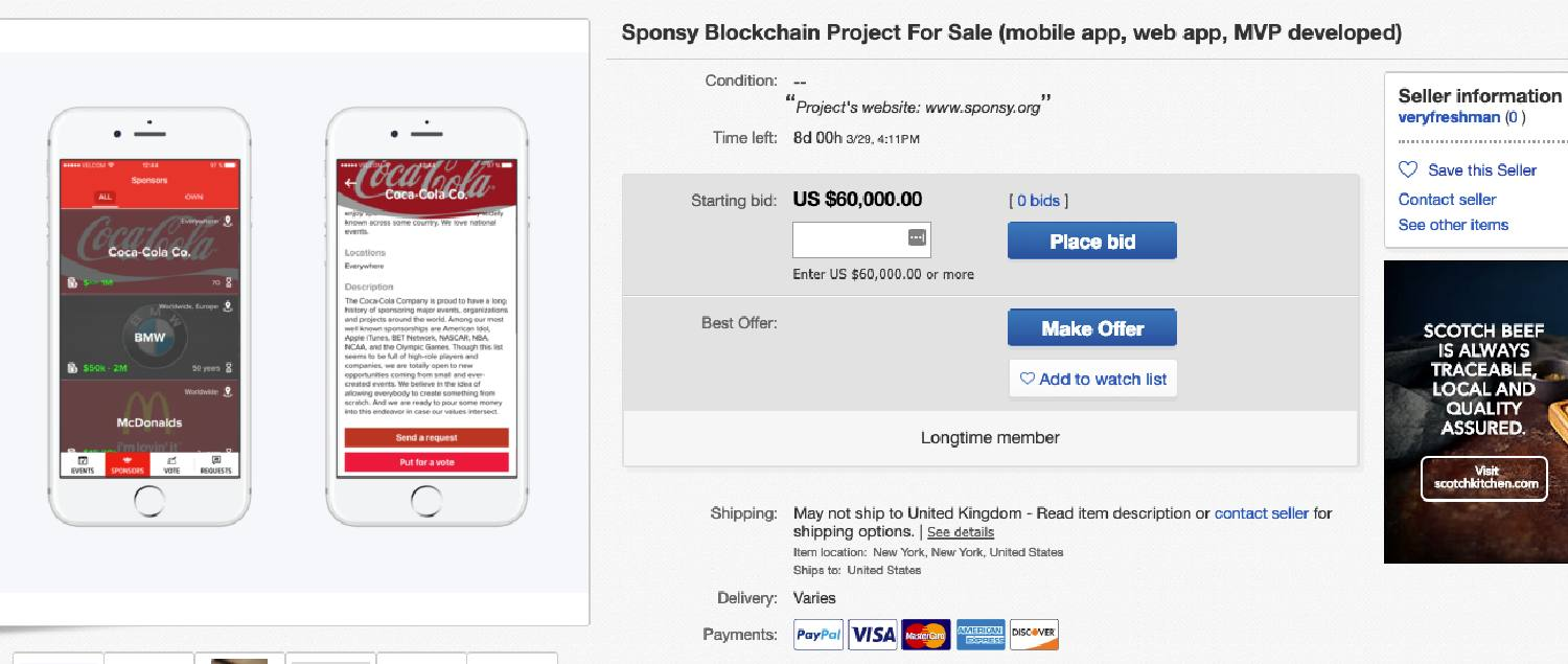 d17dbf8bf4a9 A failed ICO is trying to flog itself on eBay