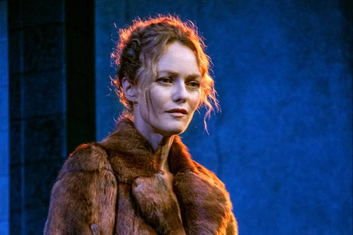 Vanessa Paradis on stage in 'Maman' at the Théâtre Edouard VI in Paris