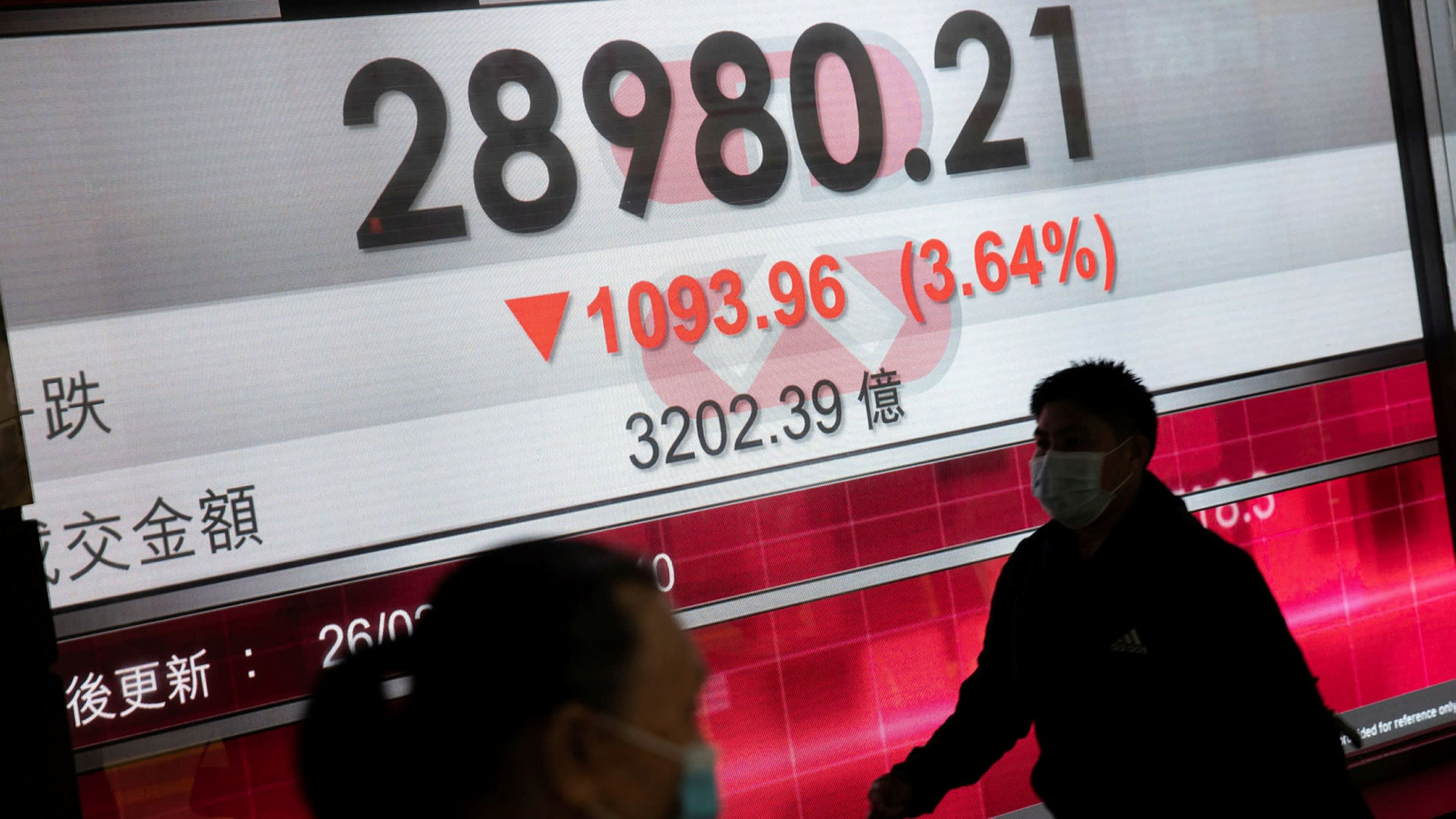 Asia shares fall as China bank regulator warns of foreign 'bubble'