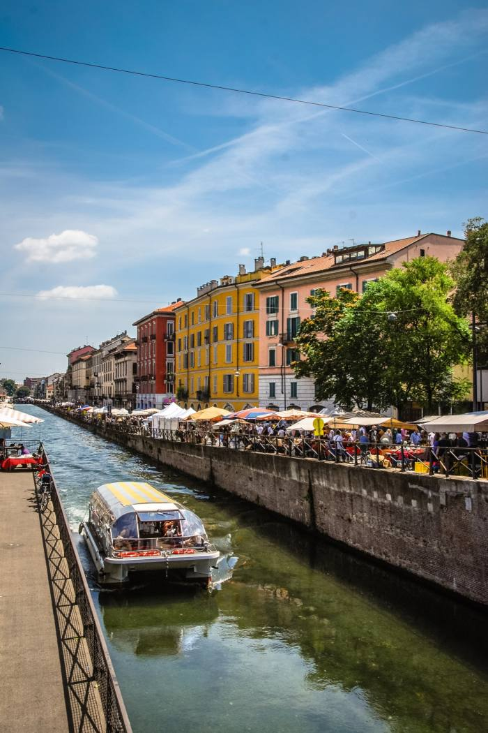 The monthly flea market held on the banks of the Naviglio Grande canal