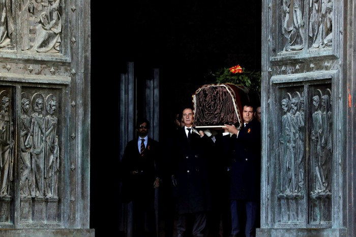 Franco's coffin was moved from the Valley of Fallen