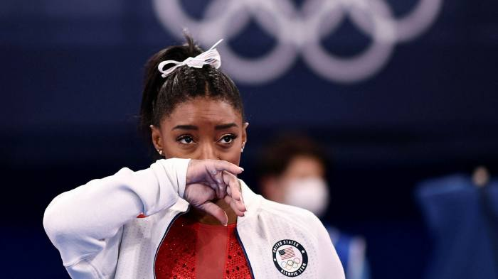 Simone Biles pulls out of team final citing mental stress | Financial Times