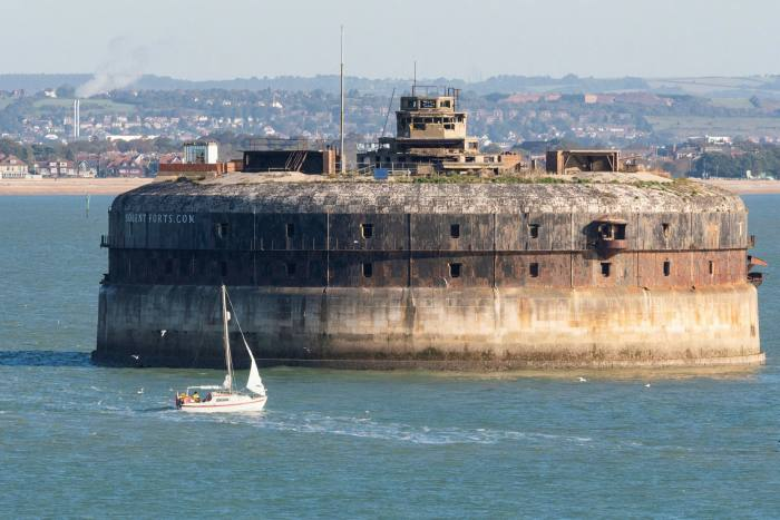 Horse Sand Fort in the Solent, near Portsmouth, on sale for £750,000, was originally built to ward off invasion by Napoleon III