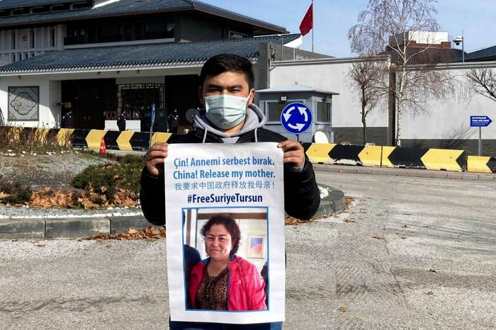 Jevlan Shirmemmet's mother has been detained in the Chinese province of Xinjiang since early 2018