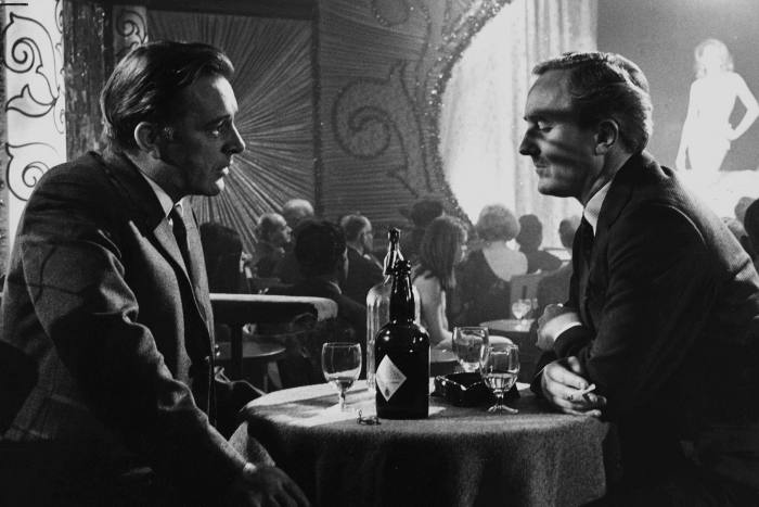 Richard Burton and Robert Hardy in 'The Spy who Came In From The Cold'