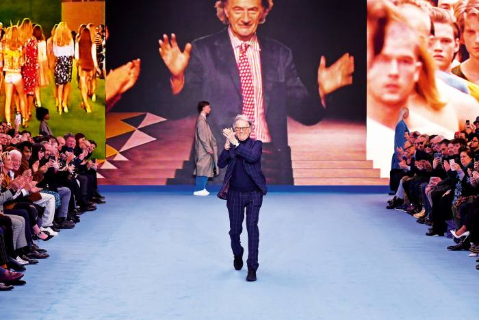 Paul Smith on therunway at ParisFashion Week, January 2020