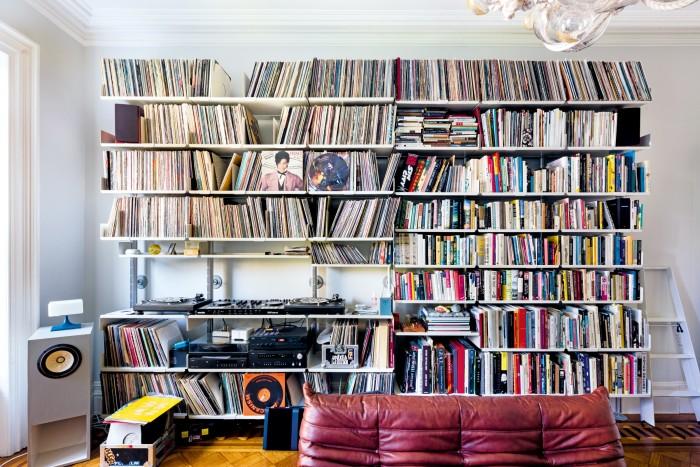 Lighting designer Lindsey Adelman's shelves