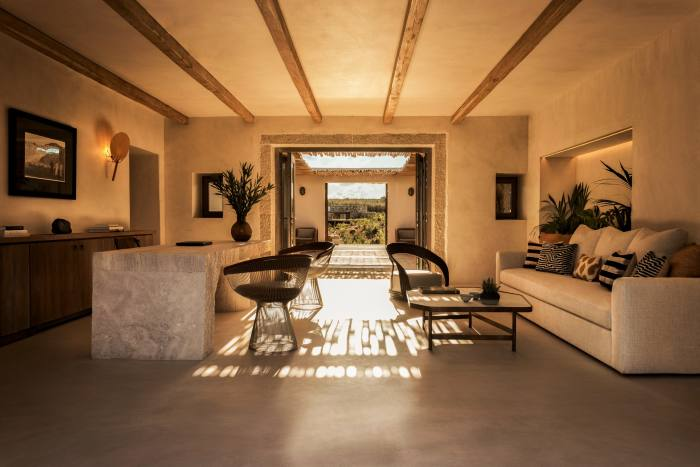 Reception reflects the organic design of the suites