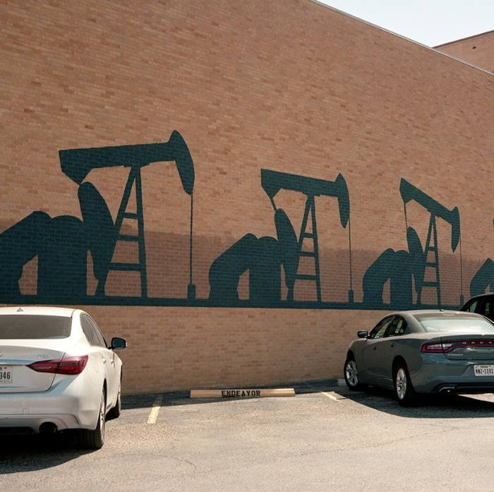 A mural in downtown Midland, west Texas