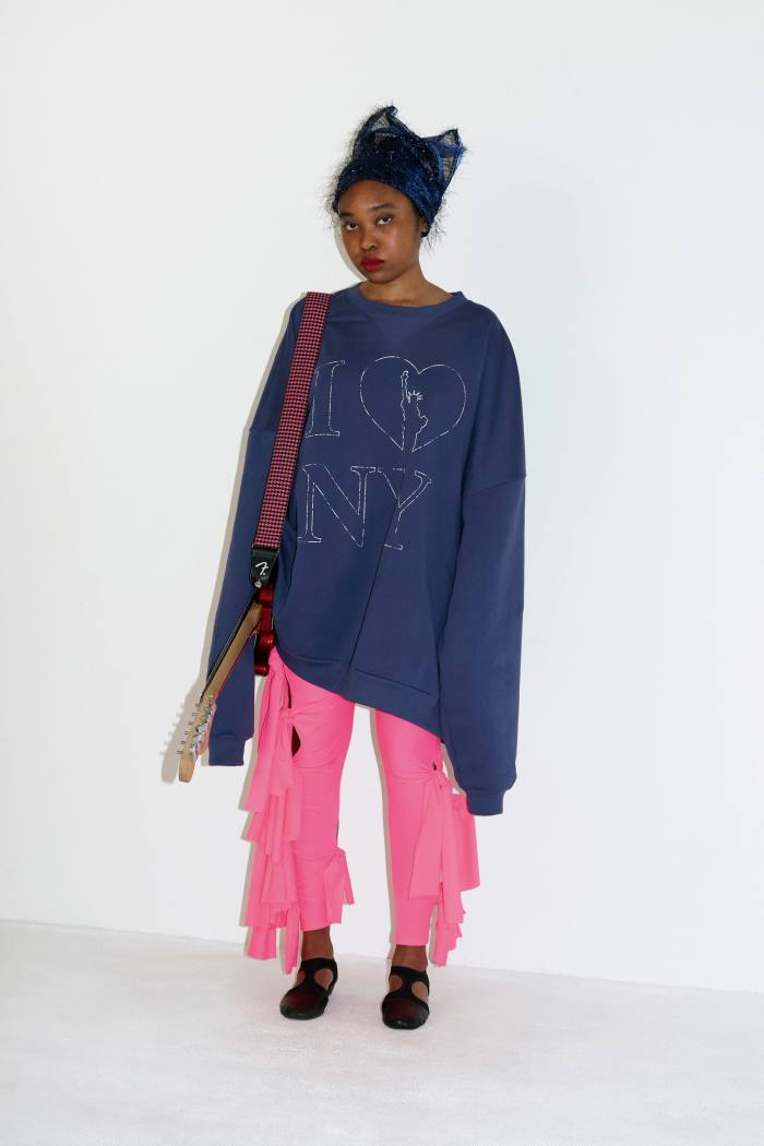 Vaquera autumn/winter 2021. The duo's clothes are 'cartoony and celebratory... often complicated, never boring'